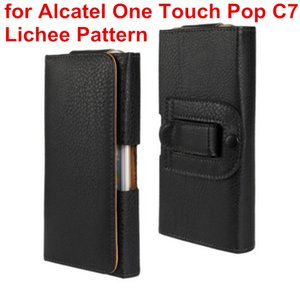 Newest Waist Case Holster PU Leather Belt Clip Pouch Cover Case For Alcatel One Touch POP C7 7040 OT7040D 7041D Mobile Phone Bag