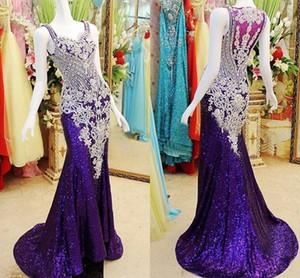 Elegante 2021 Nuevo impresionante chispas con cuentas vestido de fiesta vestido de fiesta vestido de noche con cubierta de vuelta
