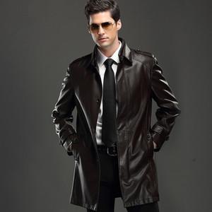 Fall- sheepskin jacket  2015 Leather & Suede genuine Leather Jackets and coats designer jacket mencoat free shipping