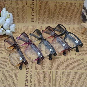 Retro Rivet Gradient Reading Glasses Transparente Marco Hombres Mujeres Clear Plastic Reading Glass Diopter + 1.0- + 4.0 10Pcs / Lot Envío gratis