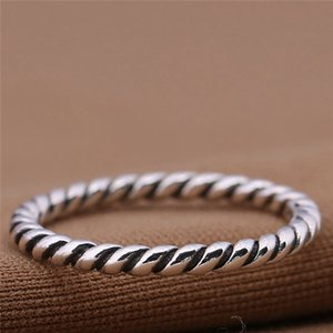 Charm Ring Braided 925 Silver Fashion Women Jewelry Retro European Style Honest Material