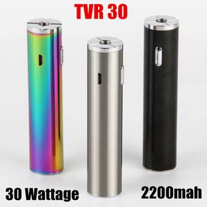 mod Vape caldo con USB Charger TVR 30W Mod sigaretta 30W Forte uscita USB Potenza 2200mAh Battery passthrough TVR scatola mod