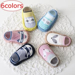 INS Tilki Çocuklar Bahar Yeni Karikatür anti kayma Ilk Yürüyüşe Kat çorap Pamuk Bebek Ayakkabı kaymaz Toddler Çorap Bebek Zemin Çorap 6 renkler ücretsiz