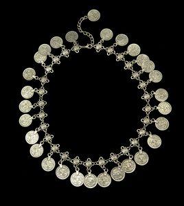 Collier Fleur Coin Argent Enfant Set Ensemble de bijoux Anklet conception florale main réglable Boho Gypsy Beachy ensembles bracelet collier ethnique