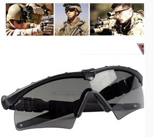 Novo SI Ballistic M Quadro 2.0 Tactical Sunglasses equitação óculos com 3 lente (preto) para mulheres dos homens de óculos de sol