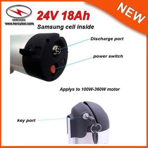 Usine Vente Bouteille D'eau Bateria 24 V Vélo Électrique Li Ion Batterie Pack 24 V 18Ah Batterie Au Lithium avec Cargador Para Bateria BMS