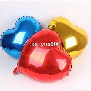 Frete grátis 50 pçs / lote 10 polegada balão de alumínio inflável festa de aniversário em forma de coração de folha de alumínio balão