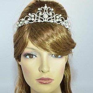 2019 nouvelle conception des femmes mariée mariage Prom Flower Tiara Crown avec alliage et clair strass perle d'imitation