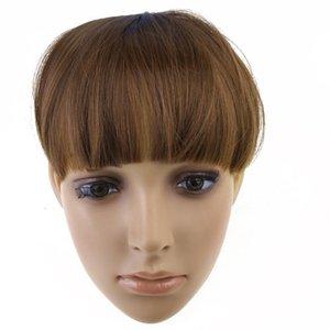 Perruque frange de cheveux synthétiques en gros IMC avec 2 clips - brun clair commander $ 18aucun morceau