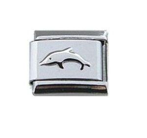 Joyería para mujer 9mm clásico repujado dolphin pulsera italiana charm encantos modulares de acero inoxidable enlace encaja Nominación