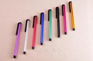 Kapasitif Stylus Kalem 10 Şeker Renk Mini Stylus Kapasite Ekranı için Mini Stylus Dokunmatik Ekran Kalem Iphone 5 S iPad 2/3/4 Sumsang S5 / S4