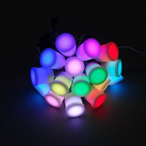 бесплатная доставка диаметр 20 мм прозрачный / молочный обложка светодиодный модуль строки DC5V ws2811IC 5050SMD1 LED RGB цифровой светодиодный пиксель огни