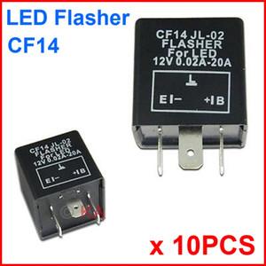 10 PCS CF14 JL-02 LED Clignotant 3 Broches Relais Électronique Module Fix Auto Moteur LED SMD Clignotant Erreur Erreur Clignotant Clignotant 12 V 0.02A À 20A