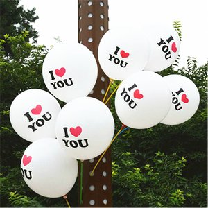 I LOVE YOU Balloons 12 inch Round Latex Balloon Decor Birthday Party Valentine's Day Wedding Anniversary Decoration Factory Wholesale