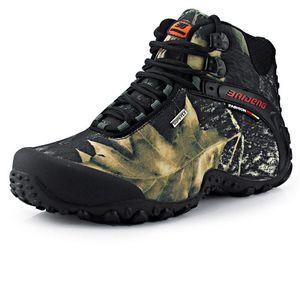 Nouvelle toile imperméable chaussures de randonnée de randonnée anti-patinée résistant à l'usure respirante chaussures de pêche escalade escalade chaussures de plein air livraison gratuite