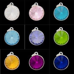 Toptan Yeni 20 MM kristal Birthstone Charm Aksesuar Charm kolye kolye Bilezik ve Bilezikler Charm Ücretsiz Kargo