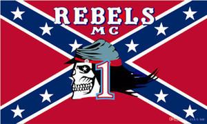 Повстанцы мотоцикл клуб флаг MC байкер конфедераты баннер 150 см * 90 см 3*5 футов полиэстер пользовательские баннер спортивный флаг