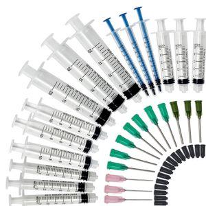 حزمة 15 - 20ML ، 10ML ، 5ML ، 3ML ، 1ML المحاقن مع 14ga ، 18ga و 20ga Blunt Tip إبر وقبعات