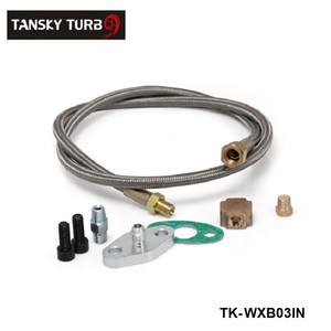 Tansky - High Quality UNIVERSAL BRAIDED Uprated T3-Turbo-Turbolader OIL FEED LINE TK-WXB03IN haben auf Lager