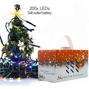 Vacances chaîne lumière eau de mer alimenté chaîne lumière lumière de fée en plein air décoration extérieure étanche lumières de Noël expédier par DHL