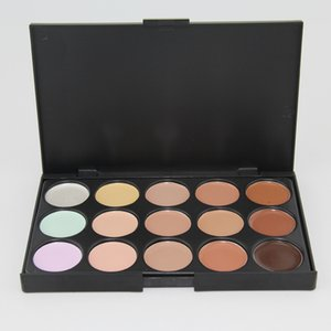 15 Colors Concealer Foundation Contour Face Cream Makeup Palette Pro Tool for Salon Party Wedding Daily 0061MU