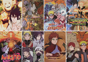 Anime Naruto Posters High Quality Posters Wall Sticker Room Decoration 8Pcs set 42X29CM High Quality Free shipping