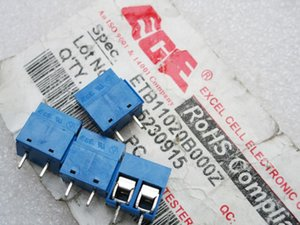 Taiwan ECE 2P PCB universal screw terminal D715230915 feet of copper 5.08mm can be spliced