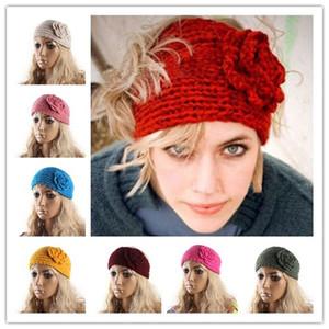 Das Mulheres Dos Homens Unisex Malha De Crochê Vazio Cabeça Chapéus Wide Headband Headwrap Hairband