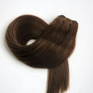 100% человеческих волос утки бразильские волосы соткет 100g 22inch #6/средние коричневые прямые выдвижения волос путать свободные индийские продукты волос