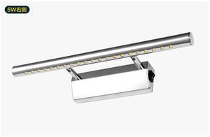 Freeshipping, 5w 7w 10w 14w ha condotto l'illuminazione dello specchio, l'acciaio inossidabile, l'illuminazione dello specchio del bagno di 5W 7W 9W, la progettazione moderna 2015, la lampada da parete principale 5W