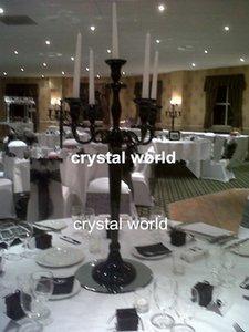 candelabro nero cristallo con fioriera 111