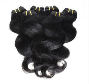 Ucuz saç! 20 paketler / lot 100% Brezilyalı Virgin Saç İnsan Saç Dokuma Dalgalı Vücut Dalga Doğal Renk Saç Uzantıları Toptan Ücretsiz nakliye
