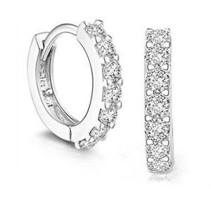 Charms Wedding Stud Pendientes 2016 Nuevo 925 Sterling Silver 7 CZ Diamantes de alta simulación Compromiso Hermosa Joyería Crystal Ear Ring