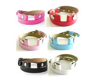 5 stücke pu-leder Wrap Armband Fit Für Magnetische Medaillon Twist Heirloom Gesicht Wrap Medaillon Armband