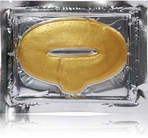 Il trasporto libero 5000 pz / lotto Donne Collagene Proteine Cristallo Idratante Labbro Pellicola per la Maschera di Cristallo di Collagene di Cristallo d'Oro di Inverno