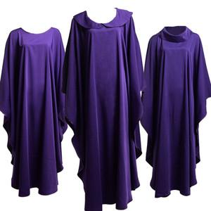 Costumi della Santa Religione per la Chiesa cattolica del clero Sacerdote viola solidi casati Clegy Apparel New