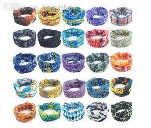 En gros (40 pièces / lot) 2015 mode unisexe head-wear magie sans couture multi fonctionnelle foulard bandana couleur de capot de sports de plein air (1 à 50)