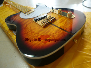 Высокое качество Мерл Хаггард гитара ТУФ DOG Tone Sunburst Электрогитара HOT
