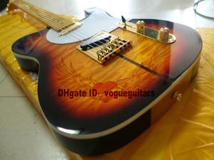 Yüksek Kalite Merle Haggard Guitar TUFF KÖPEK Ton Sunburst Elektro Gitar SICAK