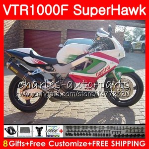 HONDA VTR1000F SuperHawk beyaz gövde 97 98 99 00 01 02 03 04 05 91NO21