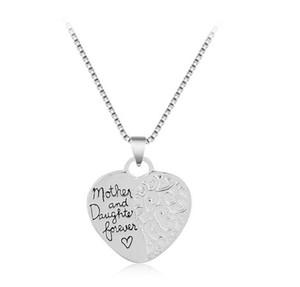 Collier coeur pendentif amour mon et fille pour toujours collier Pièce mignonne collier gravé pour femme bijoux fille
