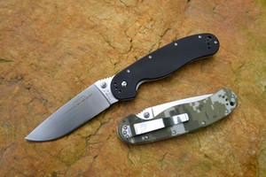 Ontario Ratte Modell 1 Outdoor-Abenteuer Taktisches Taschenmesser AUS-8 Klinge Satin fertigt Camo G10 Griff OEM Faltmesser