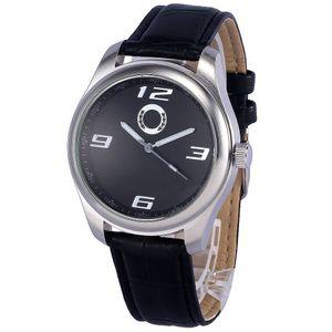 좋은 품질 인기있는 자동차 벤 로고 남성용 가죽 스트랩 쿼츠 손목 시계 505