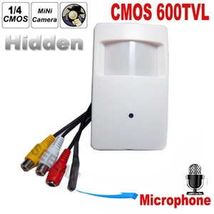 CMOS Couleur 600TVL CCTV caméra de sécurité Détecteur de mouvement PIR STYLE Intérieur CCTV Mini PIR Style Caméra de surveillance microphone