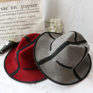 2018 Lana Nuevo estilo coreano otoño mujeres planas Jazz moda del sombrero de fieltro plegable Panamá Fedora capsula los sombreros unisex adulta de invierno