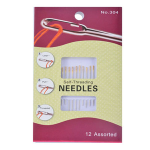 1Set Sewing Needles Self-Threading Household Repair Needles Set Sewing Accessories Embroidery Mending DIY Craft