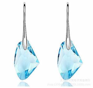 Pretty Luxury Austrian Crystal Pendientes de plata de ley 925 Party Earrings para mujer joyería
