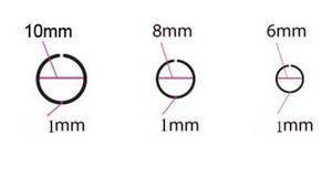 Anillo de la nariz del aro negro Pendiente Clip de la oreja Brazalete Piercing de titanio Piercing del cuerpo Joyería Acero inoxidable 316L 18G 20g 22G Elija el tamaño Unisex Fake Lip