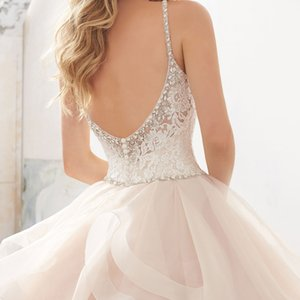 2018 Backless Sexy New Arrival Tired Skirts Sphaghetti Staps Ball Gown Wedding Applique Mermaid Bridal Dresses