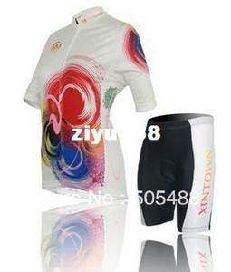 2013! مجانا shipping + pad + polyester + speed النساء الملونة دراجة الملابس الدراجات ارتداء / دراجة ارتداء قصيرة الأكمام جيرسي + السراويل XS-4XL
